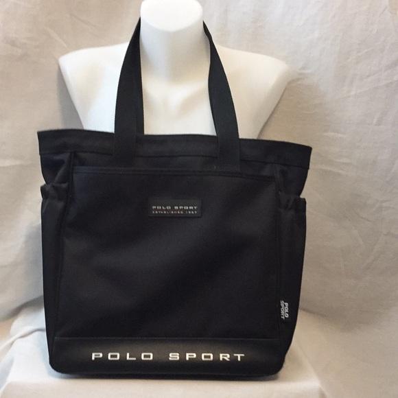 POLO SPORTS Black Textile Tote Shoulder Bag. M 5afdf8f461ca105f8c2ddae6 8492d60792050